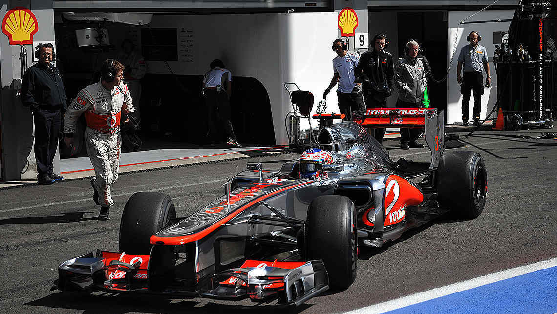 Jenson Button se qued con el mejor tiempo. (Foto: AP)