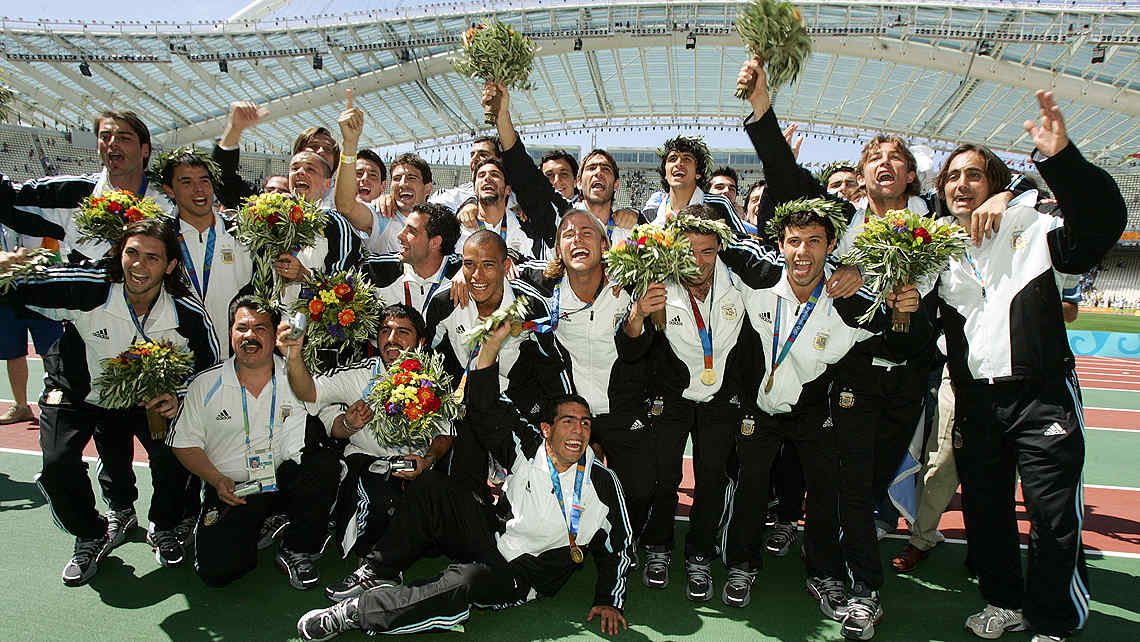 28/08/2004: el da dorado del deporte argentino. (Foto: AP)