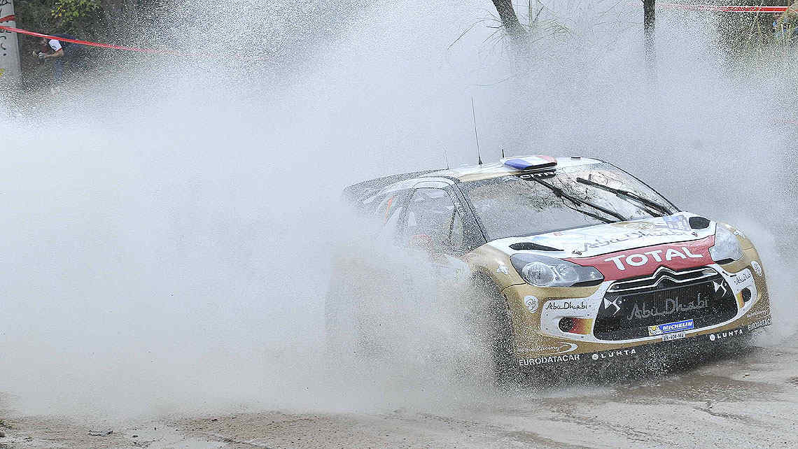 Loeb tuvo un buen ensayo, pero en la prueba cronometrada perdi por poco. (Foto: Ramiro Pereyra)