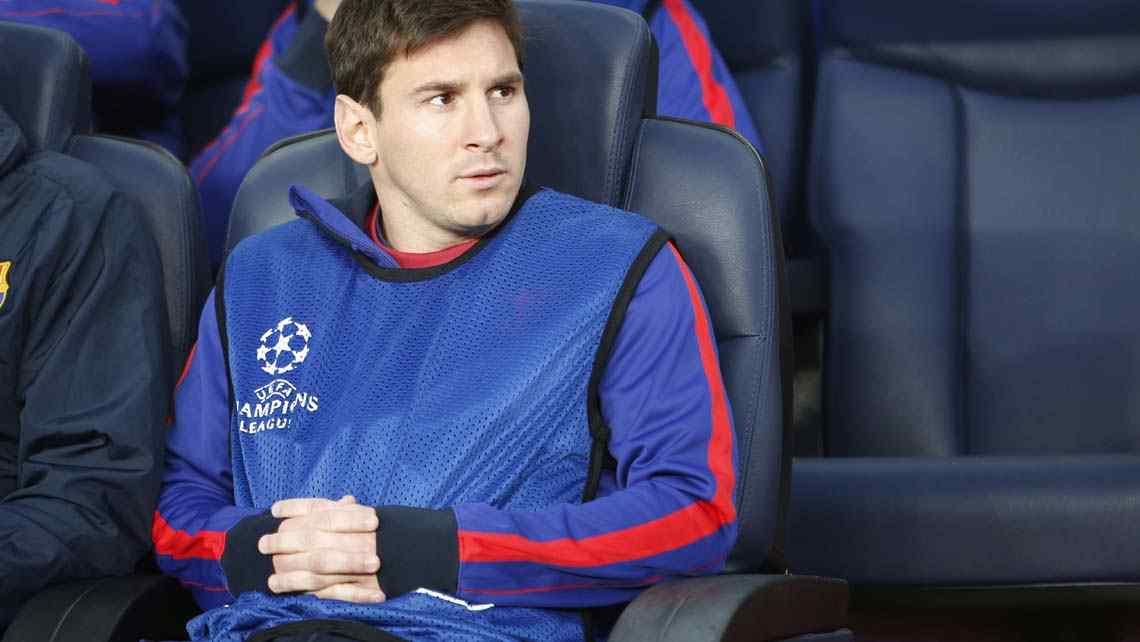 Messi en la banca