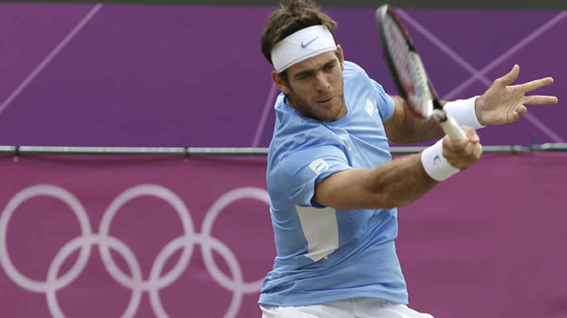 Del Potro quiere llevarse de Londres su primera medalla olmpica (Foto: AP).