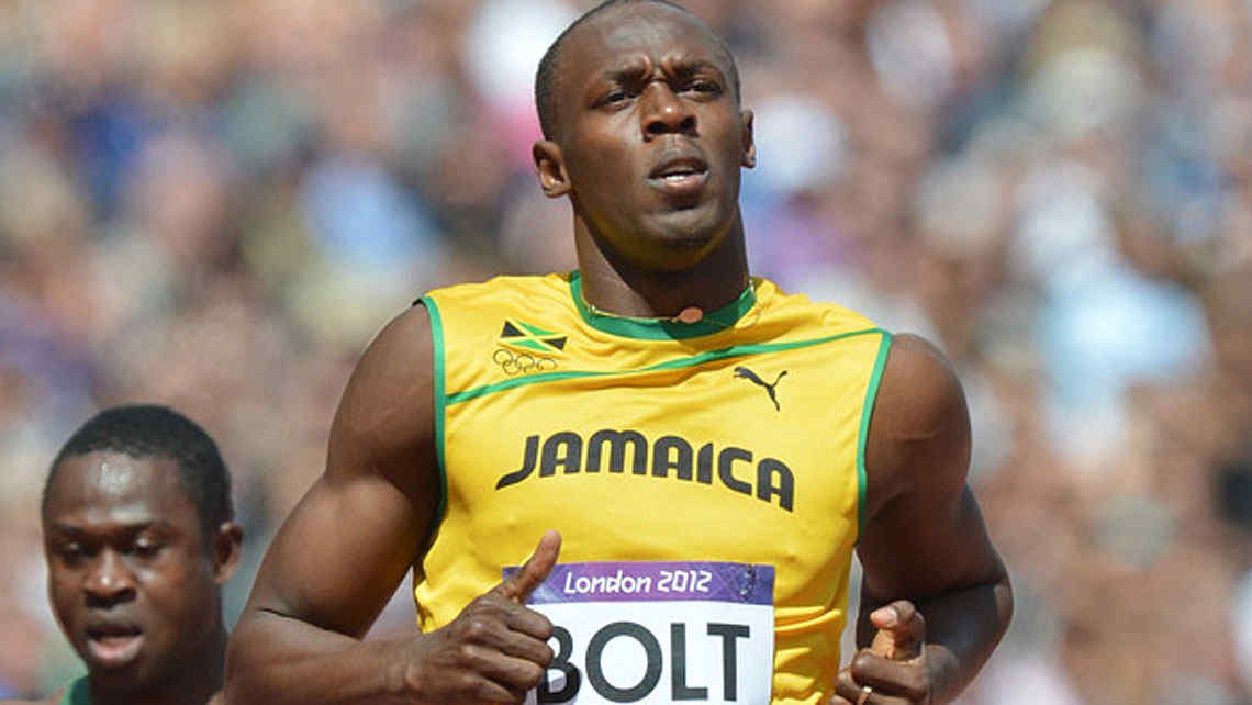 Bolt comenzó de menor a mayor en su debut en Londres. (Foto: The Guardian)