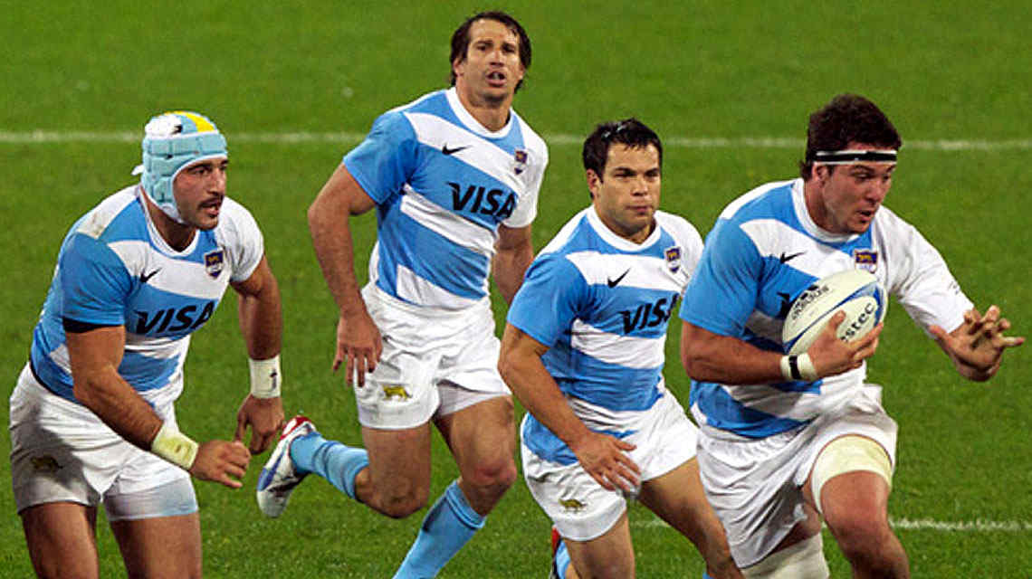 Los Pumas tuvieron una rfaga importante en el segundo tiempo. (Foto: Tlam)