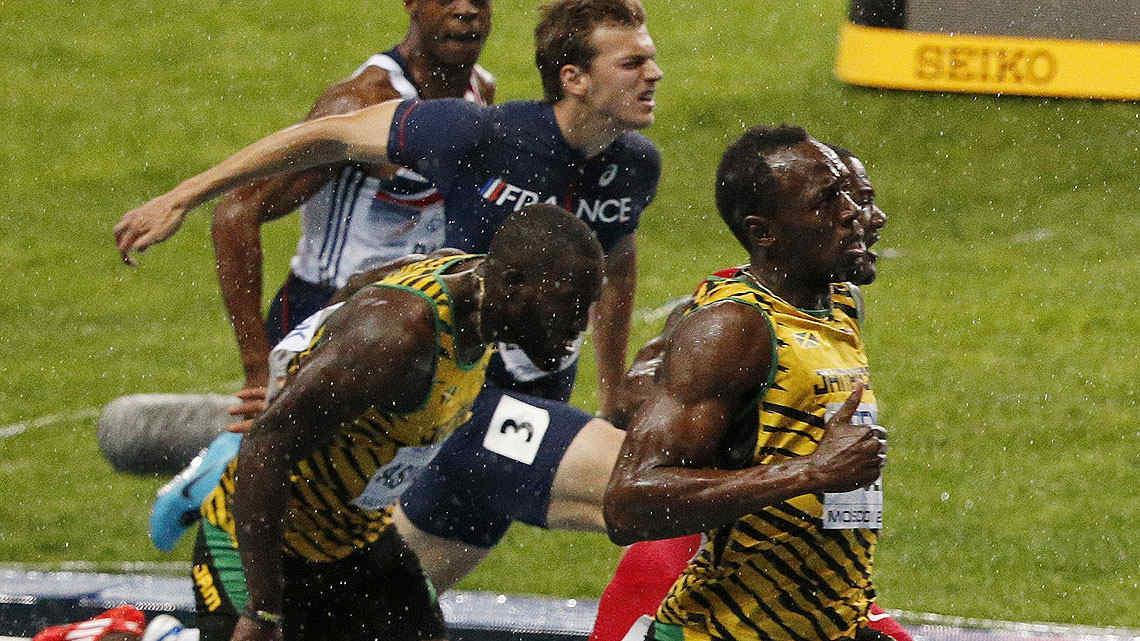 Las espectaculares fotos de Usain Bolt en el Mundial de Moscú. (Foto: AP)