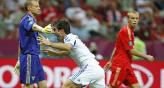 Karagounis grita el gol con el que Grecia venci a Rusia (Foto: AP).