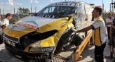 Ortelli se accident en los ensayos del Sper TC2000. (Foto: Tlam)