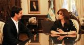 La presidenta Cristina Fernndez de Kirchner fue parte de la presentacin oficial de &quot;Pechito&quot; como piloto del US F1.