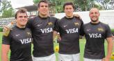 Cuarteto cordobs. Facundo Barrea (Athletic), Csar Fruttero (Jockey VM), Matas Alemanno (La Tablada) y Rodrigo Bruno (Jockey VM). // Foto: Gentileza Rugby Full