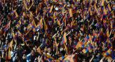 Todo Barcelona festeja su ttulo 22 de Liga. (Foto: AP)