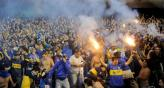 Los hinchas de Boca se burlaron de los de River durante el superclsico (Foto: DyN).