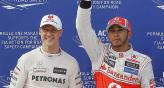 Michael Schumacher deja la Frmula Uno y Lewis Hamilton ocupar su lugar. (Foto: AP)