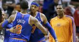La estrella de la noche fue el alero de los Knicks Carmelo Anthony, quien sum 50 puntos (Foto: AP).