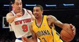 Prigioni marca a George Hill, de los Pacers (Foto: AP).