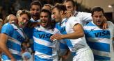 Los Pumas, agradecidos de Australia. (Foto: DyN)