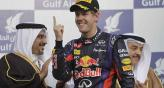 Vettel festej esta maana en Bahrein (Foto: AP).