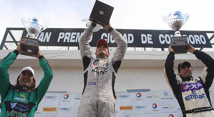 Sergio Alaux (Mercedes), &quot;Pechito&quot; Lpez (Mondeo) y Gabriel Ponce de Len (Mondeo).