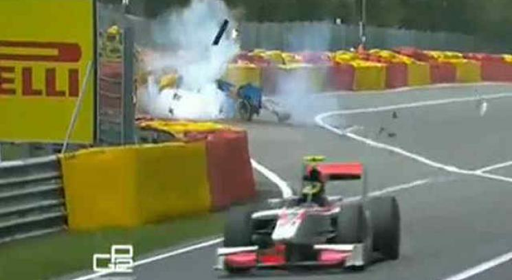 El tremendo accidente de Nigel Melker en la GP2.