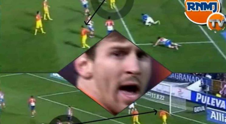 Messi enojado con tello por un pase !