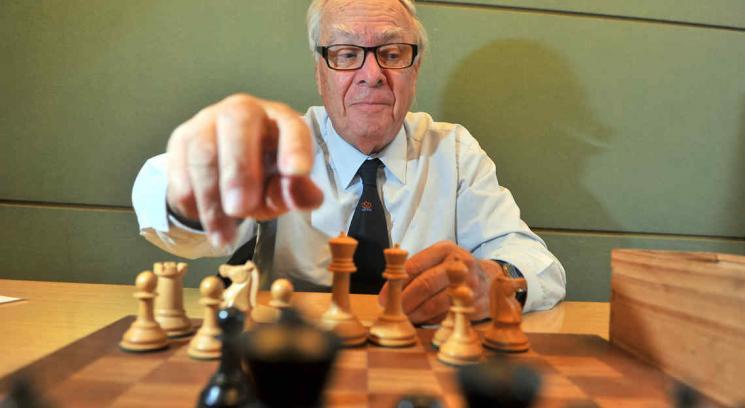 Oscar Panno, un genio del ajedrez, estuvo en Córdoba (Foto: Sergio Cejas).